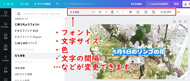 ブログ写真に文字入れ(Canva)